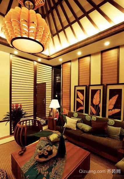 金黄色客厅吊顶装修效果图