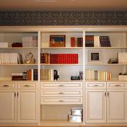浅色调书柜效果图