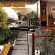 绿意浓浓的露台花园