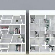 纯白色书柜效果图