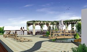 环境优美的露台花园装修效果图