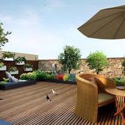 自然风格露台花园