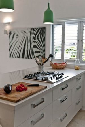 纯净白色厨房装修效果图