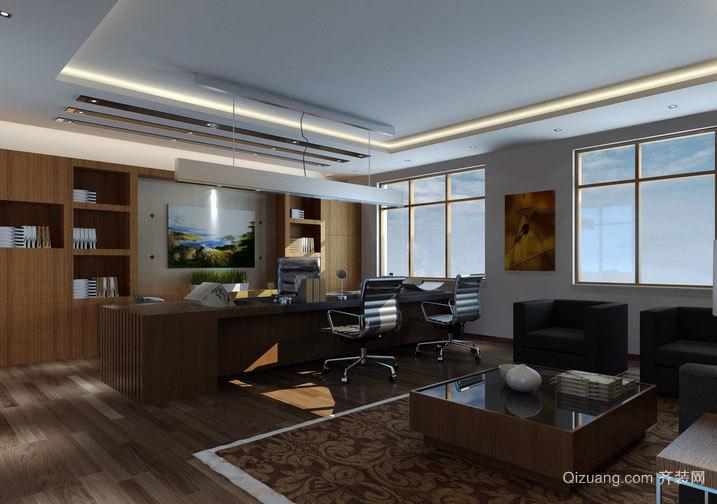 现代化气息的办公室装修效果图
