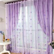 神秘紫色别墅窗帘