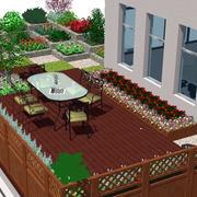 实用型露台花园