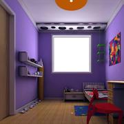紫色儿童房装修