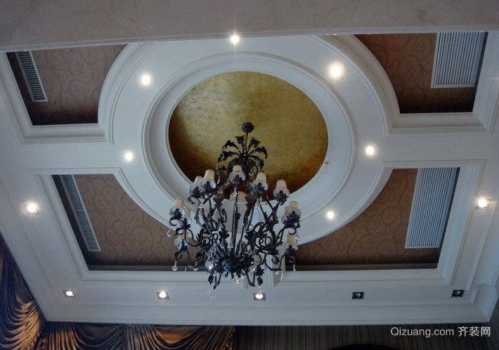 清秀型客厅吊顶装修效果图