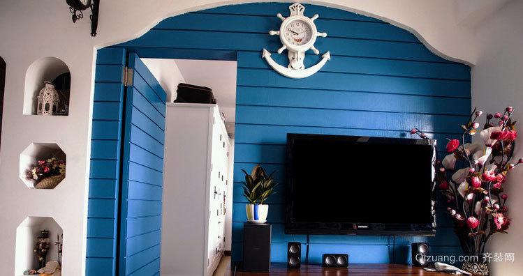 地中海风格隐形门装修效果图