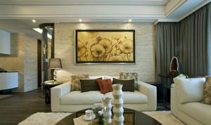 美观的客厅现代装饰画效果图