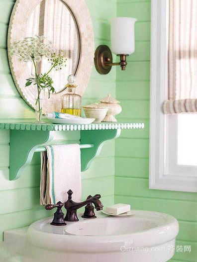 跃层专用洗手间设计装修效果图