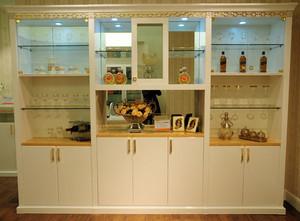浪漫具有艺术感的欧式酒柜效果图