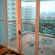 中式风格阳台推拉门