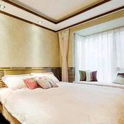 现代精装卧室飘窗设计