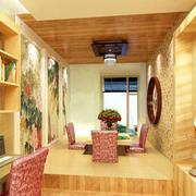温暖的卧室榻榻米效果图