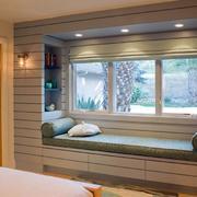 温馨卧室飘窗设计效果图