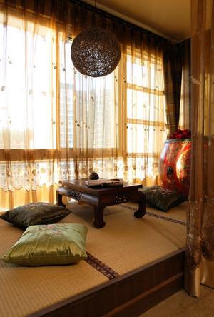 三室二厅精致日式卧室榻榻米床装修效果图