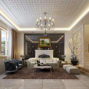 清新明亮的客厅效果图