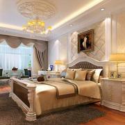 奢华大气的浅色卧室背景墙
