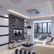 精致美观的客厅背景墙效果图