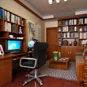 现代化与中式相结合的书房装修