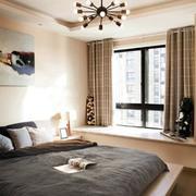 清新卧室飘窗设计图