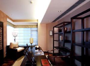 两室一厅中式复古小书房装修效果图