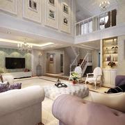 客厅白色酒柜设计