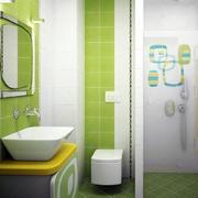 绿色有活力的卫生间装修效果图