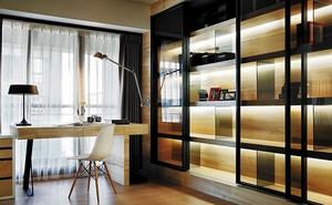 现代简约风格三居开放式书房装修效果图