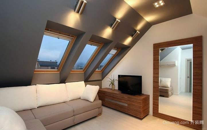 时尚温馨的斜顶阁楼装修效果图大全