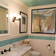 舒适的卫生间背景墙效果图