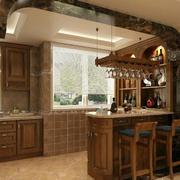 精致典雅的厨房效果图