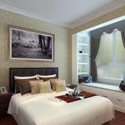 欧式现代卧室飘窗设计