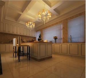 90平米高贵欧式厨房吧台装修效果图