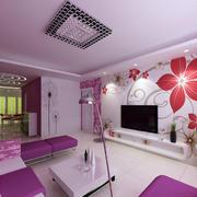 浪漫的客厅吊顶效果图