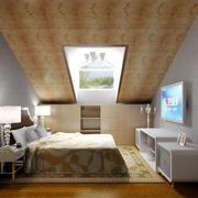 恬静卧室斜顶阁楼装修