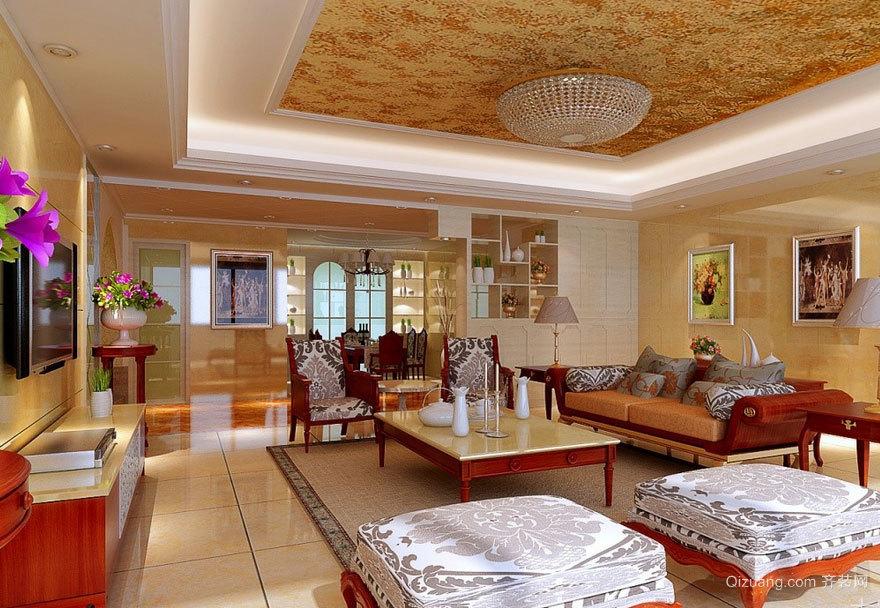 大户型欧式客厅吊顶装修效果图欣赏