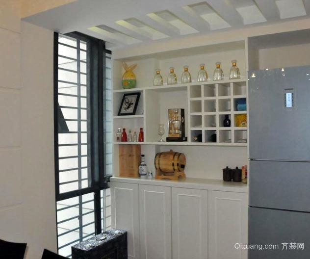 120平米客厅简欧风格酒柜装修效果图