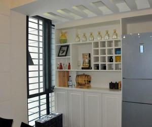简单白色系酒柜设计