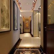 中式古典三居走廊吊顶设计