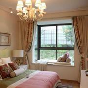 田园风格卧室飘窗设计