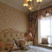 欧式复古卧室飘窗设计