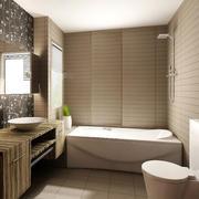 暖色都市流行的卫生间设计