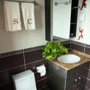 小卫生间盆栽装修效果图