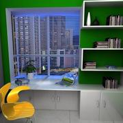绿色现代小书房装修