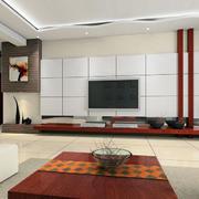 整洁明亮的电视背景墙效果图