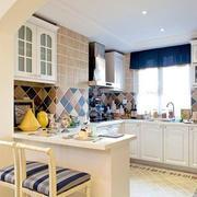 地中海风格开放式厨房设计