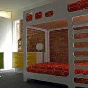 朴实大气儿童房双层床设计