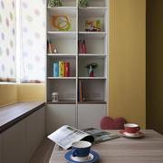 黄色淡雅书房设计